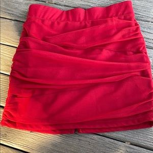 Red Charlotte Russe skirt red small